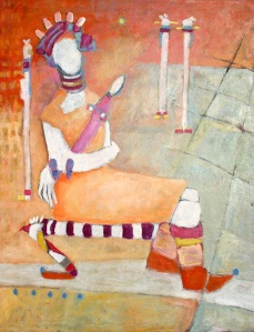 fetish-sitting, 2005, oil on canvas, 28 x30 (71x76cm)