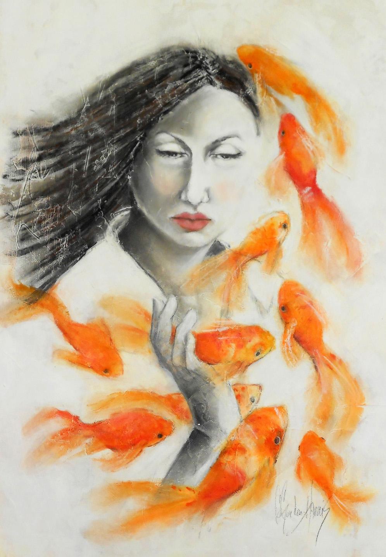 Fishin 39 by cassandra gordon harris absolutearts for Women who fish