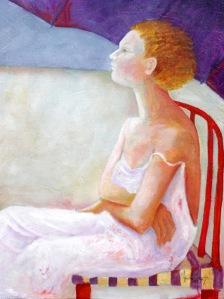 Beach Chair, oil on canvas, 77x102 cm (30x40)