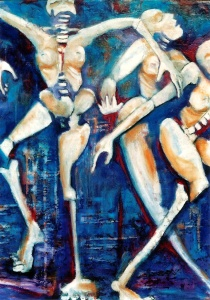 Joie d' la vie, 2006acrylic on canvas, 77x102 cm (30x40)- work painted but never shown