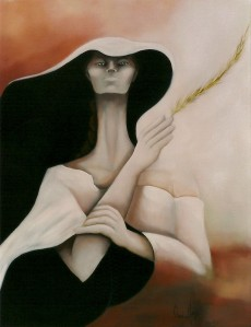 Yellow Feather (2001), oil on canvas, 77x102 cm (30x40)