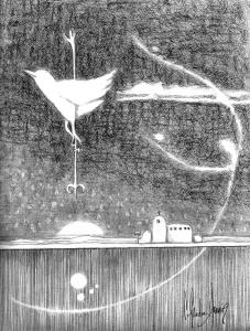 Night Lines graphite on paper 8x10