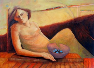Stillness, 2007, oil on canvas, 76x 101 cm-30x40