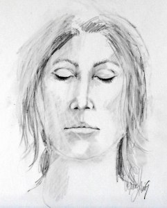 Eyes Wide Shut, graphite on paper, A4 (8x10)
